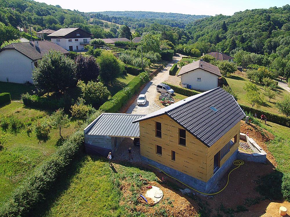 Maison individuelle - Ossature bois, charpente et couverture