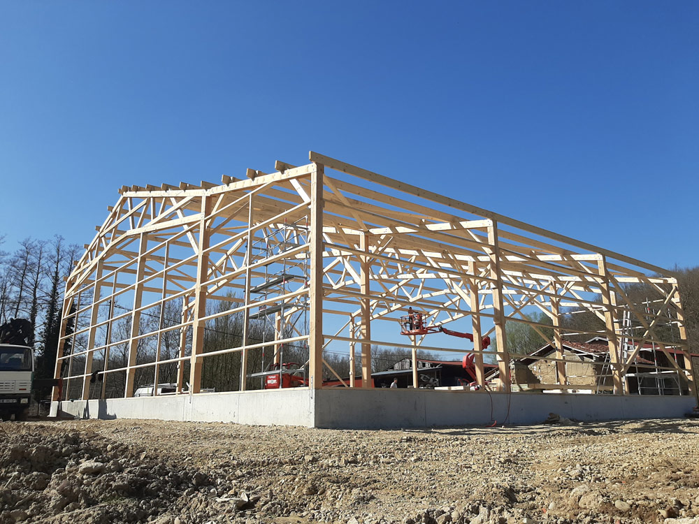 Bâtiment agricole - Ossature bois